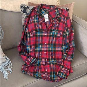 J crew plaid flannel